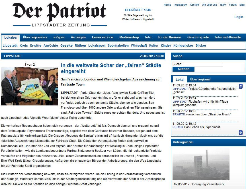 Der Patriot vom 30.06.2012