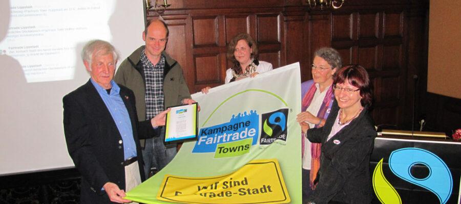 Verleihung der Urkunde Fairtrade Town Lippstadt 2012