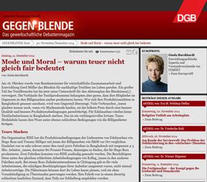 Beitrag gegenblende.de vom 14.12.14
