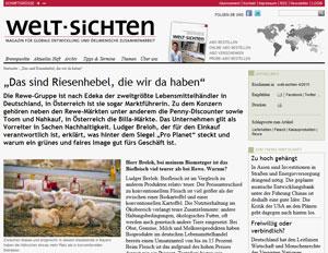 Rewe Interview Welt-Sichten