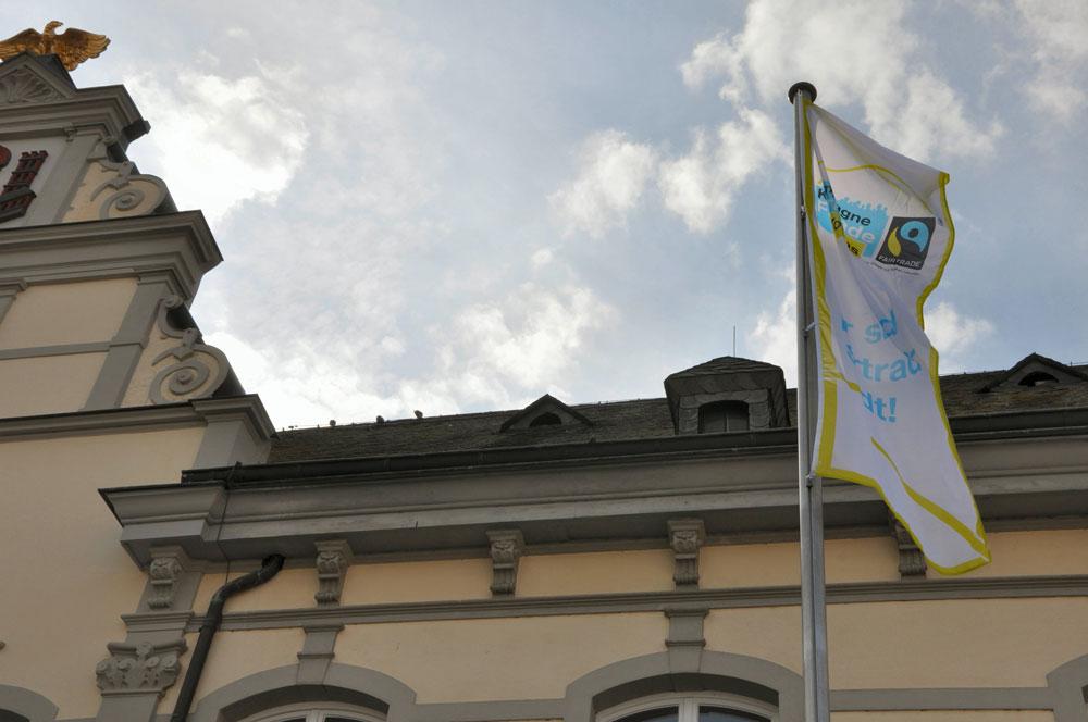Fairtrade Flagge Rathaus 1