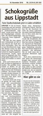 Presse Faire Lippstadt Schokolade