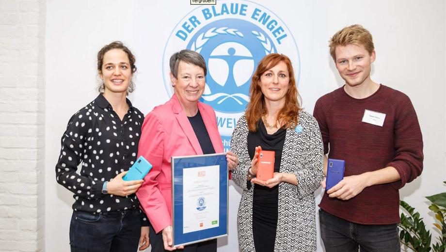 Fairphone mit blauem Engel