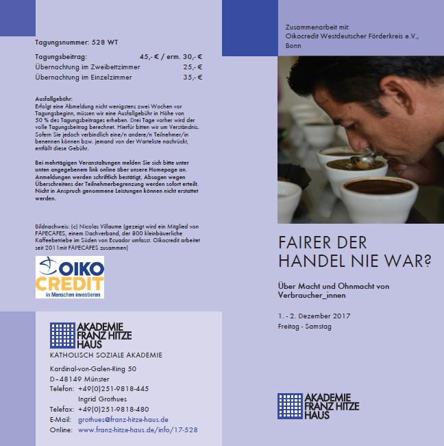 Tagung Oikocredit Münster 2017