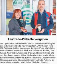 Real Lippstadt Fairtrade-Sortiment