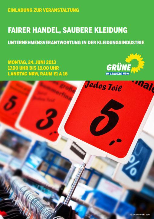 Fairer Handel, saubere Kleidung Grüne NRW