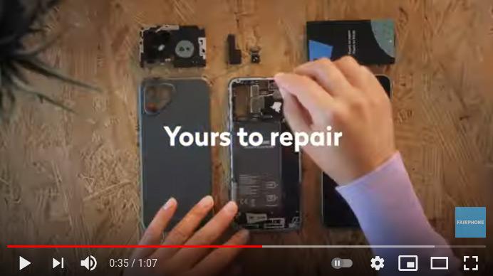 Fairphone 4 Youtube